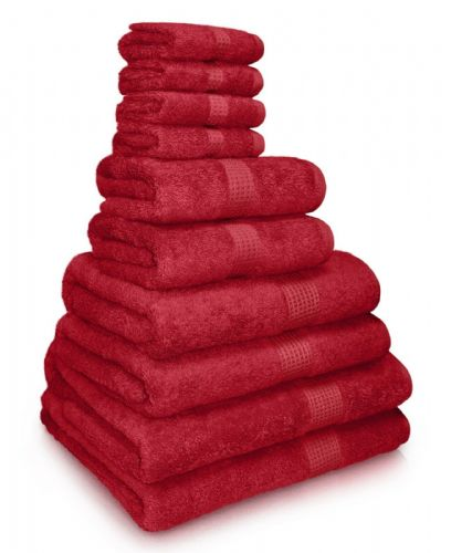 100% EGYPTIAN COMBED COTTON SUPER SOFT 650gms HOTEL QUALITY TOWELS RED COLOUR